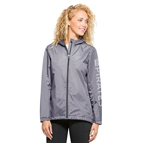 '47 MLB Pittsburgh Pirates Women's High Point Full-Zip Jacket, Large, Shale Grey