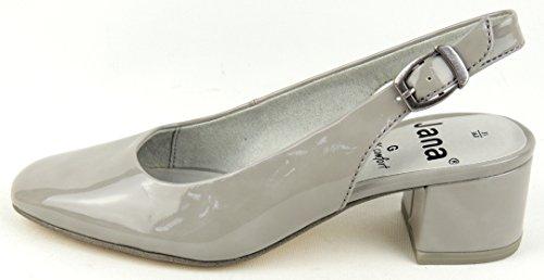 Women's Sling Pumps Jana gray Size 37 to 42 Weite-G Antishokk lt. grey patent VrGNH