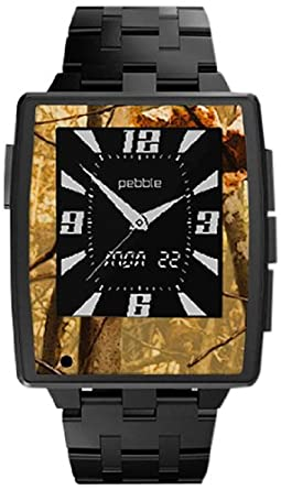 Slickwraps Wraps/Skins for Pebble Steel Smartwatch for iPhone and Android - Retail Packaging - Nature Camo