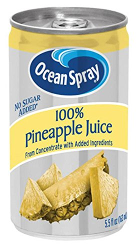 Ocean Spray Pineapple Juice 100%, 5.5-Ounce Cans (Pack of 48) (No Sugar Added Fruit Juice compare prices)