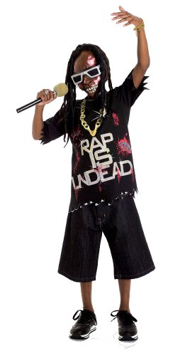 Zombie Icons Rap Star Costume, Large (10/12)