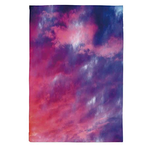 (TecBillion Sky Decor No Fading Tablecloth,Magical Cloudy Sunset Idyllic Shades of Pink on Air Gradient Fading Moody Picture for Table Outdoor Picnic Holiday Dinner,70.1''W X 84''L)
