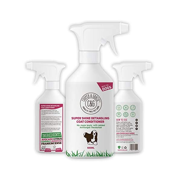 C&G Dog Detangler Spray | Cruelty Free Leave In Conditioner Spray For De Matting Dogs | Leaves Fur Tangle Free | Professional Grooming Formula (500 ML) 1