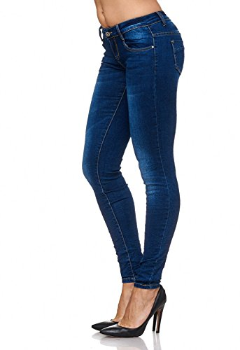 Arizonashopping Stone Skinny Jeans Dark Skin D2078 Pantaloni Attillati Donna Blu Washed Da XqqBwxEpZr
