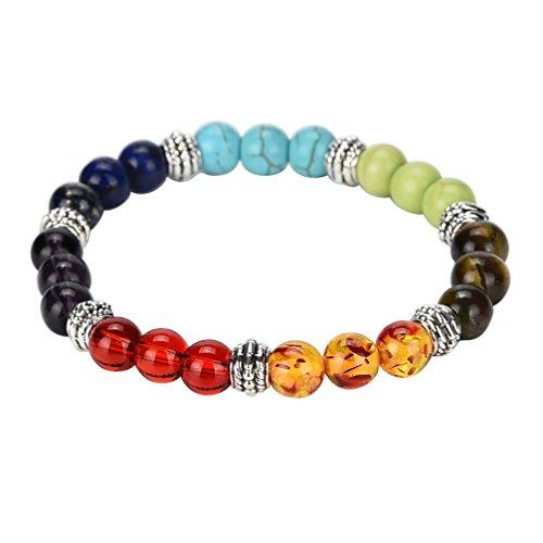 Botrong ❤️ Bead Bracelet 7 Chakra Healing Beaded Bracelet Natural Lava Stone Diffuser Bracelet Jewelry -