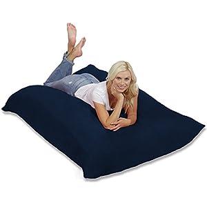 Chill Bag Huge Memory Foam Bean Bag Pillow, , Navy