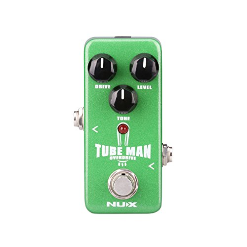 NUX Mini Core Tube Man Overdrive Guitar Effects Pedal Vintage Tube Sound True Bypass (Pedal Vintage Compressor Guitar Effect)