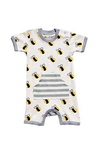 Cat & Dogma Certified Organic Infant Romper 12-18 Months - Bee