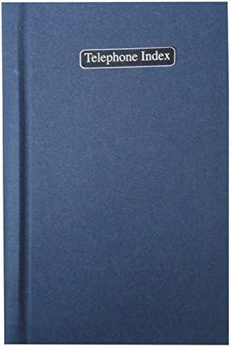 Tallon Adressbuch mit Alphabet-Telefonregister und Adressbuch blau