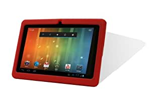 RED Color 7.0 ZEEPPAD(TM) ANDROID 4.0 TABLET 4GB CAPACITY WIFI, CAMERA, YOUTUBE, GAMES SKYPE VIDO CALLING & NETFLIX MOVIES +ZEEPAD(TM) PROTECTIVE RED COLOR GEL COVER.