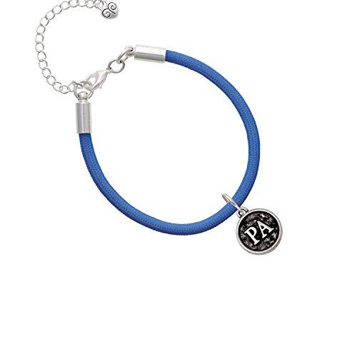 Medical Assistant Caduceus Seal - PA Royal Blue Malibu Paracord Bracelet