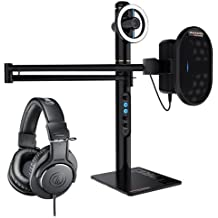 Marantz Professional Turret Broadcaster Video-Streaming System with ATH-M20X Monitor Headphones (Black)