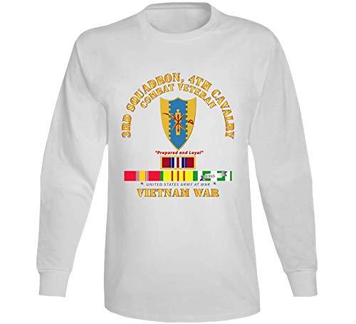(LARGE - Army - 3rd Squadron 4th Cav- Vietnam War W Vn Svc Plus Long Sleeve -)