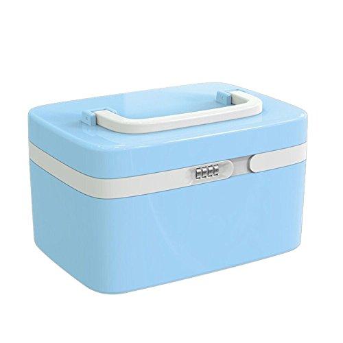 EVERTOP Kosmestik Organizer Aufwahrungbox tragbare Make Up Aufbewahrung mit Passportschutz Organizer (Blau)