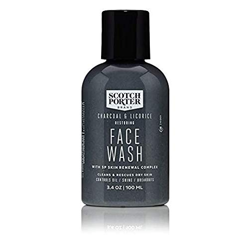 Scotch Porter - Charcoal & Licorice Restoring Face Wash - 3.4 oz.