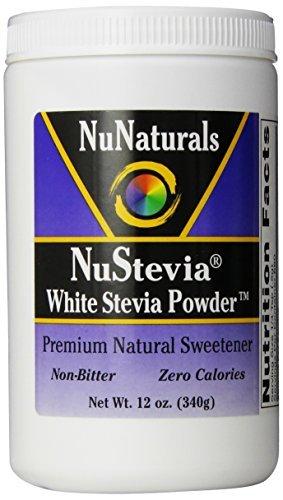 (NuNaturals Nustevia White Stevia with Maltodextrin Powder, 12-Ounce by Nunaturals)