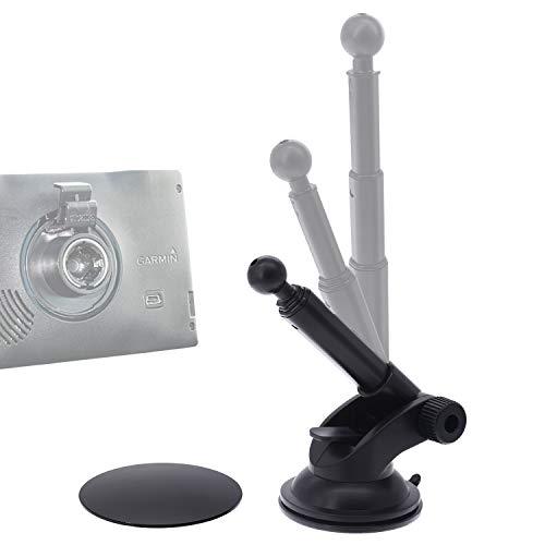 Suction Mount Holder for Garmin Speak Plus Dash Cam Mini 30 35 45 46 55 56 65W 66 66W Nuvi Drive Drivesmart Dezl Zumo Driveassist DriveLuxe StreetPilot RV GPS iSaddle for Garmin Dash Cam Holder