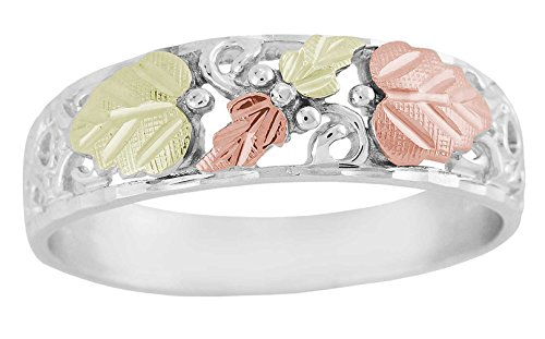 Beautiful! Diamond-cut Black Hills Gold/Sterling-Silver Women's/Men's Wedding Bands