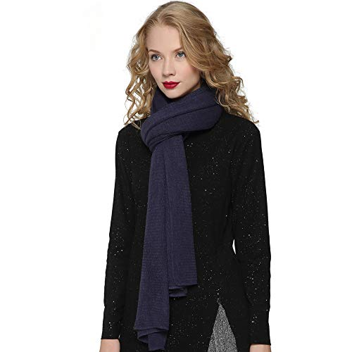 Accessories Purple Fashion (ZORJAR Women's Men Fashion Long Shawl Plush Knit Winter Warm Large Scarf (86