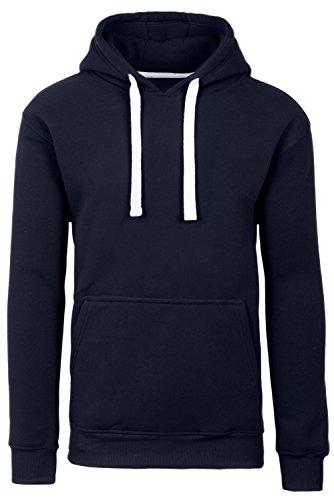 Plus Size Hipster Hip Hop Basic Sweatshirts Pullover Navy Hoodie Jacket 4XL