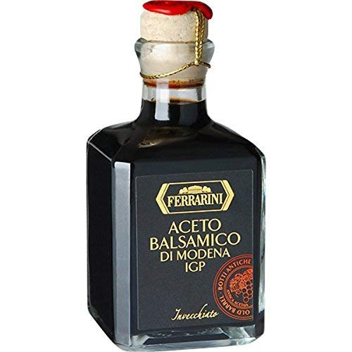 Vinegar Balsamico (Italian Balsamic Vinegar Modena Aged - Aceto Balsamico di Modena IGP - Gourmet Barrel Aged Balsamic Vinegar - By Serendipity Life. Certified Product PGI from Italy (8.4 oz.))
