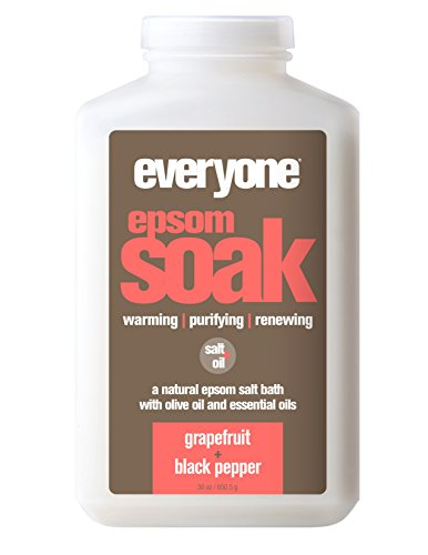 Everyone Natural Epsom Soak, Grapefruit & Black Pepper, 30 Ounce