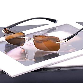 YXCCHZS Gafas De Sol Sin Montura para Hombre Gafas De Sol ...