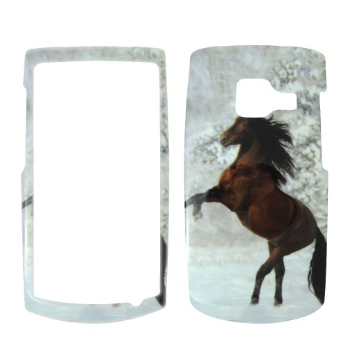 Nokia X2 T-Mobile - Beautiful Horse Snow and Tree Hard Case, Cover, Snap On, Faceplate