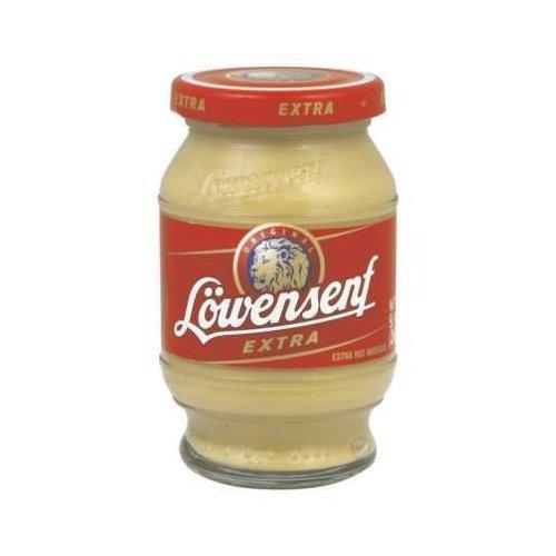 Lowensenf Mustard Xhot, 9.3 Oz (Pack of 6)