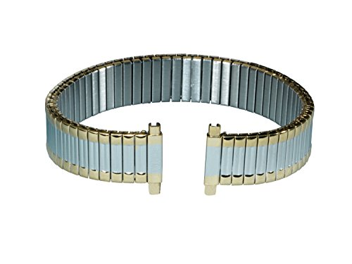 Gilden Custom Length Ladies Expansion 12-16mm Two-Tone Stainless Steel Watch Band 144-T-4