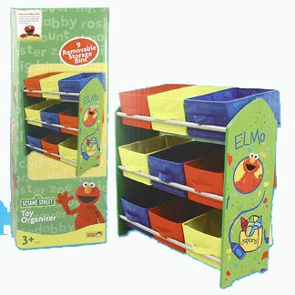 Perfect Sesame Street Kids Furniture Collection   Elmo Toy Organizer With 9 Storage  Bins