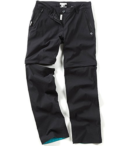 Craghoppers Women's Kiwi Pro Convertible Walking Trousers 6 US | Short Black by Craghoppers