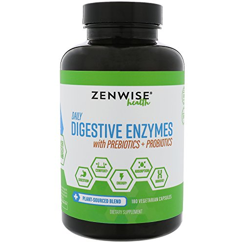 Digestive Enzymes Plus Prebiotics & Probiotics – Natural Support for Digestion & Lactose Absorption – For Bloating, Constipation & Gas – 180 Vegetarian Capsules
