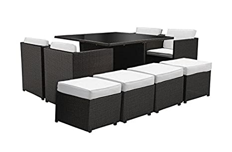 Tavoli Da Giardino Risparmio Casa : Set sedie e tavolo in rattan cubo nero: amazon.it: giardino e