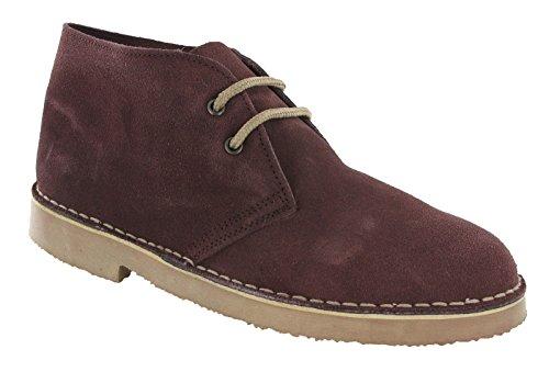 Schuhe mit zwei Schnur-Löchern, für Herren, aus echtem Wildleder, mit spitzem Zeh, M467, von Remonte Größe 35,5-47 Bordeaux