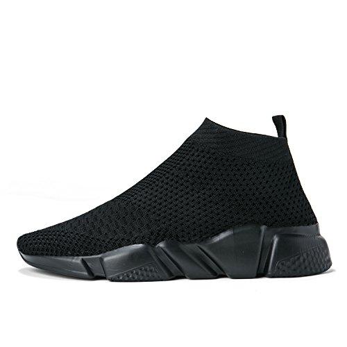 Laufende leichte Breathable beiläufige Sportschuhe der Frauen arbeiten Art- und Weiseturnschuh-wandernde Schuhe um Alles schwarz