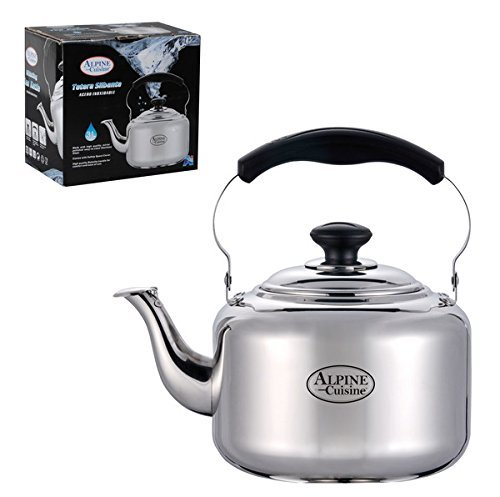 Tea Kettle-4 Liters,stovetop Kettle, Heavy Gauge Stainless Steel Whistling Tea Kettle with Shiny Mirror Polished