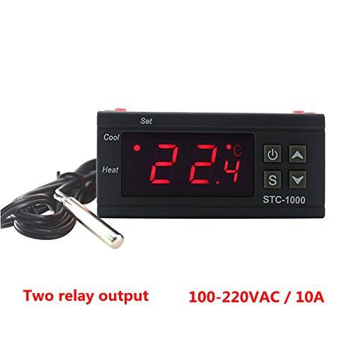 KETOTEK STC-1000 Digital Temperature Controller Digital LED Temperature Controller 110V Thermostat Sensor 2 Relay Output