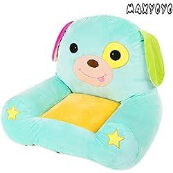 MAXYOYO Cute Dog/Elephant/Frog/Horse Colorful Stuffed Plush Toy Bean Bag Chair,Bear Sofa Seat for Children,Birthday Gift for Boys and Girls (dog)