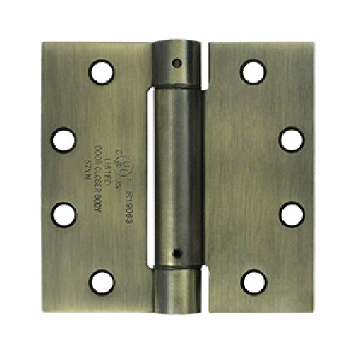 Deltana DSH45U5 Single Action Steel 4 1/2-Inch x 4 1/2-Inch Spring Hinge by Deltana (Image #1)