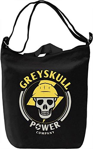 Greyskull Power Company Borsa Giornaliera Canvas Canvas Day Bag| 100% Premium Cotton Canvas| DTG Printing|