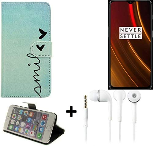 K-S-Trade® 360° Funda Smartphone para OnePlus 6T McLaren Edition, Smile + Auriculares | Wallet Case Flip Cover Caja Bolsa Caso Monedero BookStyle: Amazon.es: Electrónica
