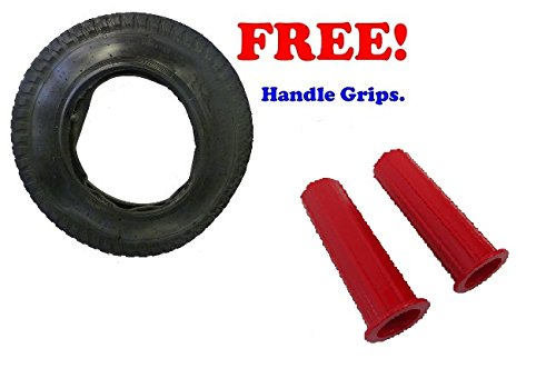 3.50 - 8 Tyre and Innertube for Wheelbarrows PLUS FREE Handle Grips