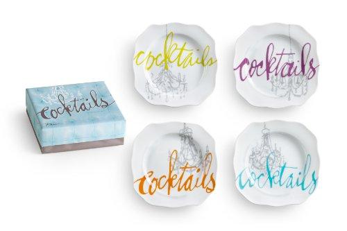 Rosanna Cocktails Appetizer Plates, Set of 4