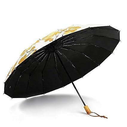 Paraguas plegable automatico Mujer niño Hombre an- 16 Paraguas Grande con Refuerzo de Hueso,
