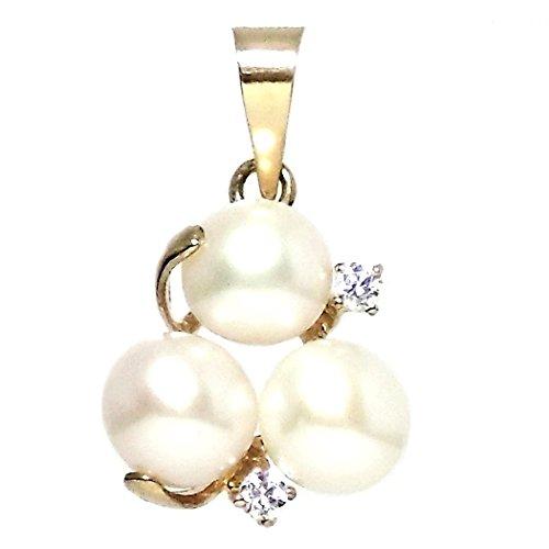 18k perles or pendentif 2 3 zircons [297]
