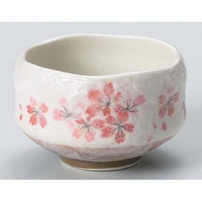 Mino Ware Matcha bowl Japanese pottery tea cup for tea ceremony, Heian sakura, Chawan 3.9'' by Mino Ware