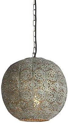 QAZQA Klassisch//Antik//Orientalisch Orientalische Tischlampe 32 cm Baloo//Innenbeleuchtung//Wohnzimmerlampe//Schlafzimmer Stahl Kugel//Kugelf/örmig LED geeignet E27 Max 1 x 40 Watt