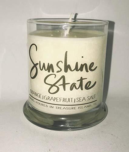 Sunshine State Florida Candle Florida Home Candle- Soy Candle- Sunshine State (State Landscape Seminoles Florida)