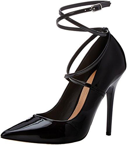 W Escarpins Patent Office Black Cheville Hilda Femme Bride Black qwq5OF